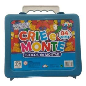 Blocos De Montar 84 Peças Crie E Monte Brinquedo Infantil