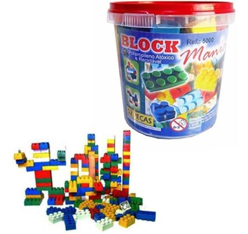 blocos de montar block mania com 52 peças alfem plastic