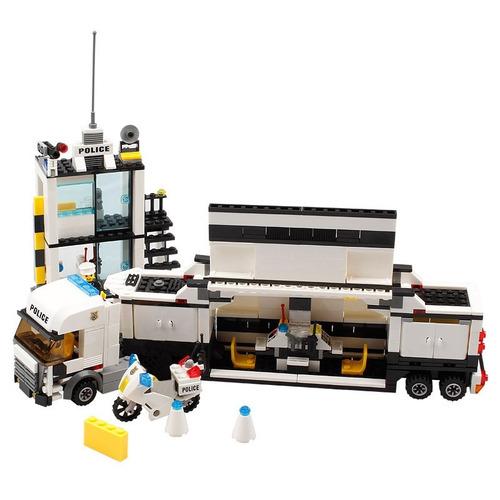blocos de montar cidade delegacia caminhão compatível lego