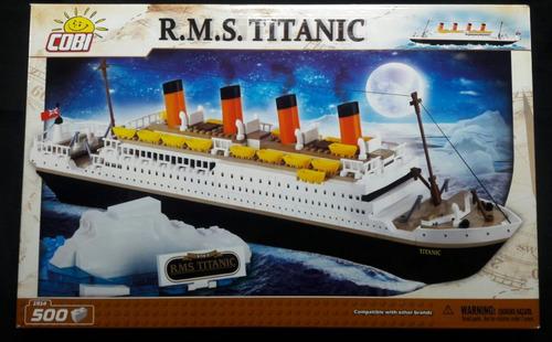 blocos de montar cobi  - titanic 500 peças