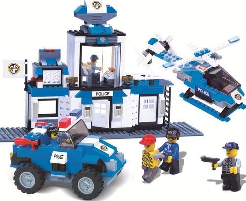 blocos de montar defensores ordem policia 459 peças xalingo