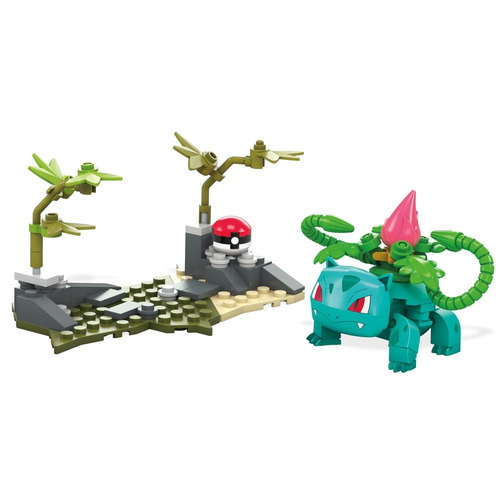 blocos de montar - mega construx - pokémon - ivysaur - matte