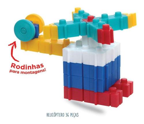 blocos de montar - monta tudo 3d - 50 peças - elka