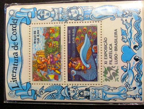 blocos de selos brasil anos - 1972-1981-1986-1989-1991-1992