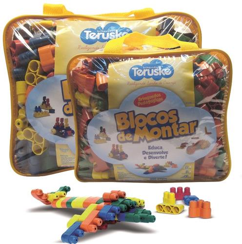 blocos montar plug idéias legos brinquedo pedagógico 500 pçs