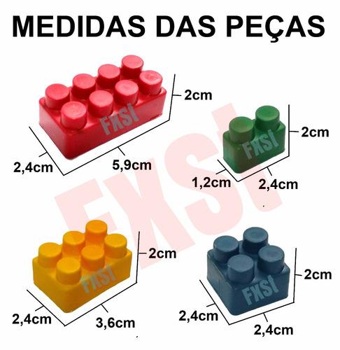 blocos pedagógicos com 1000 peças de montar p/ criança
