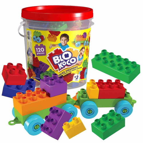 blokoco bloques grandes 120 piezas - jugueteria s/ stock