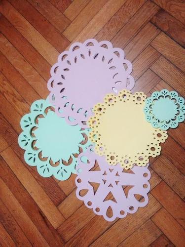 blondas caladas de papel tortas decoracion fiestas