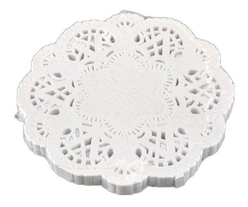 blondas mantel calado papel bond blanca 10cm no.4 100piezas