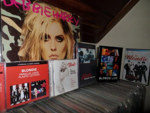blondie coleção 3 dvd's 2 cd's e 1 lp  deborah harry