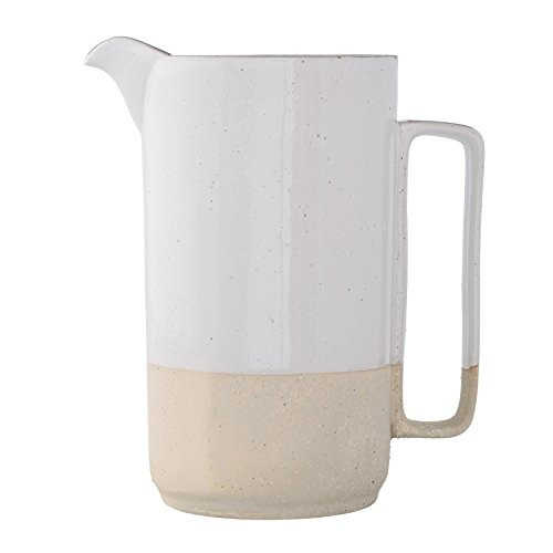 bloomingville cerámica blanca pitcher bárbara, multicolor