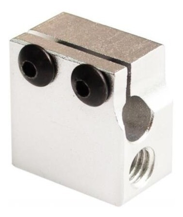 bloque aluminio tipo e3d volcano hotend impresora 3d reprap