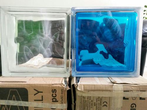 bloque de vidrio traslucido