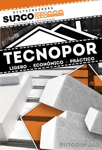 bloque ladrillos techo 15 x 30 x 120 tecnopor puesto en obra