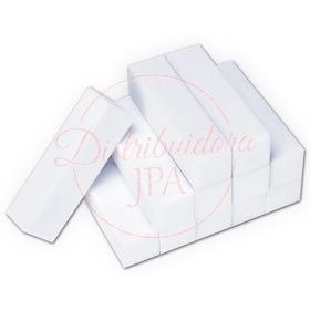 Bloque Pulido Buffer Blanco Uñas Esculpidas Acrilicas Gelificadas