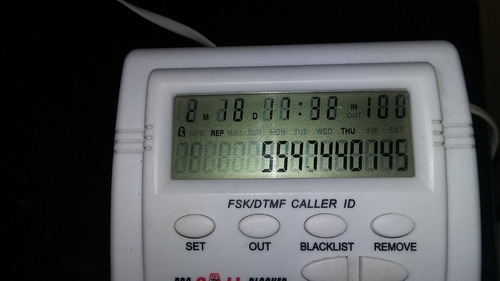 bloqueador de llamadas entrantes ver. 5.21 / negro