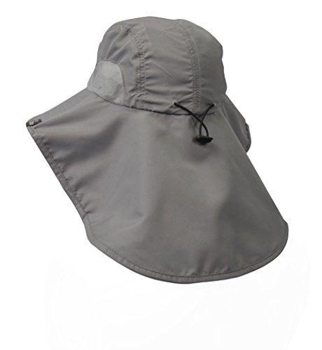 Bloqueador De Sol Unisex Bill Cuello Solapa Sombrero De