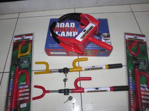 bloqueador para ruedas y barra antirrobo timon  layfun lock