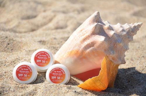 bloqueador solar biodegradable  para labios fps 50+