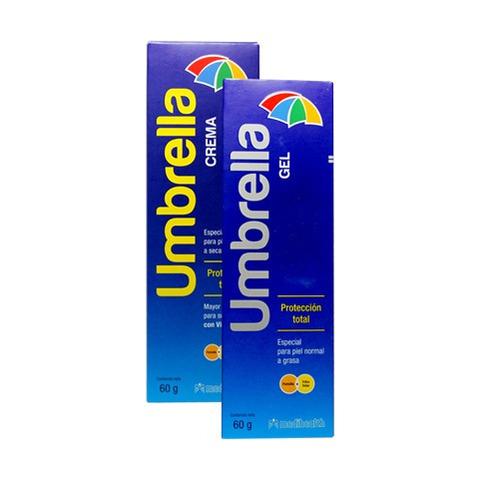 bloqueador solar facial umbrella gel promo x2 envio gratis