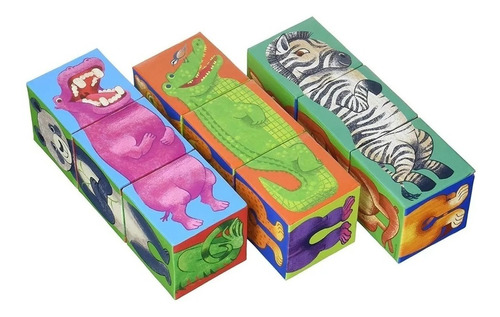 bloques animales zoo 29073 9 piezas crocodile creek edu full