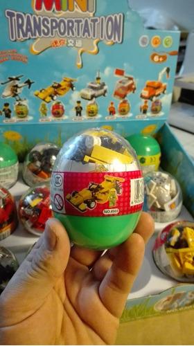 bloques armables en huevos