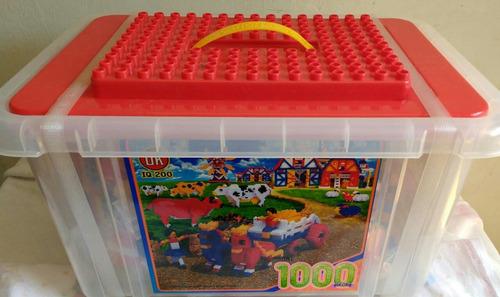 bloques armables ladrillos grandes y pequeños tipo playgo