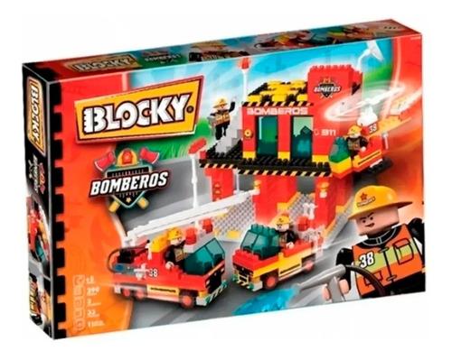 bloques bomberos 150 pzas autobomba helicoptero blocky cadia