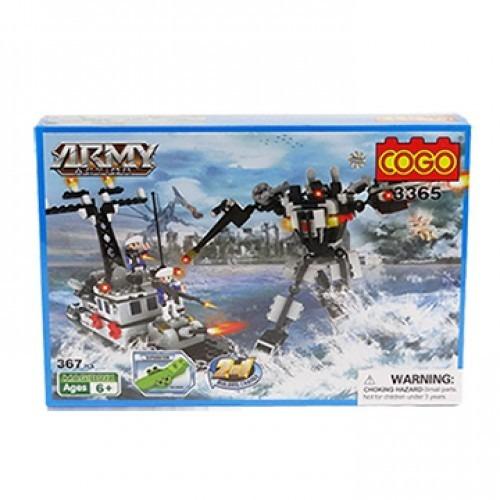 bloques cogo robot transformable barco 323 ps compt con lego