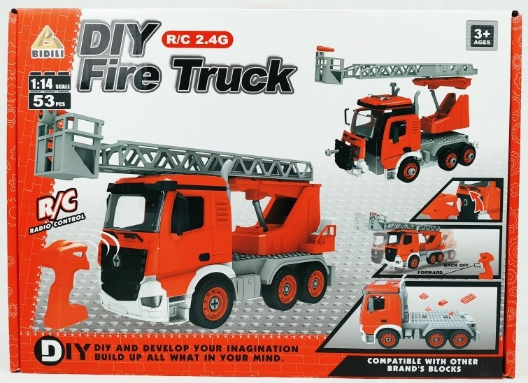 Bloques Construccion Diy Camion Bomberos Electrico Bdl809a1 699 00 En Mercado Libre