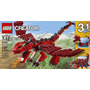Increible Lego Creator Red Creatures Dragon !! 3 En 1!!