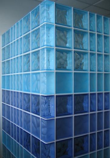 Bloques de cristal piezas especiales colores ladrillo - Bloques de cristal ...