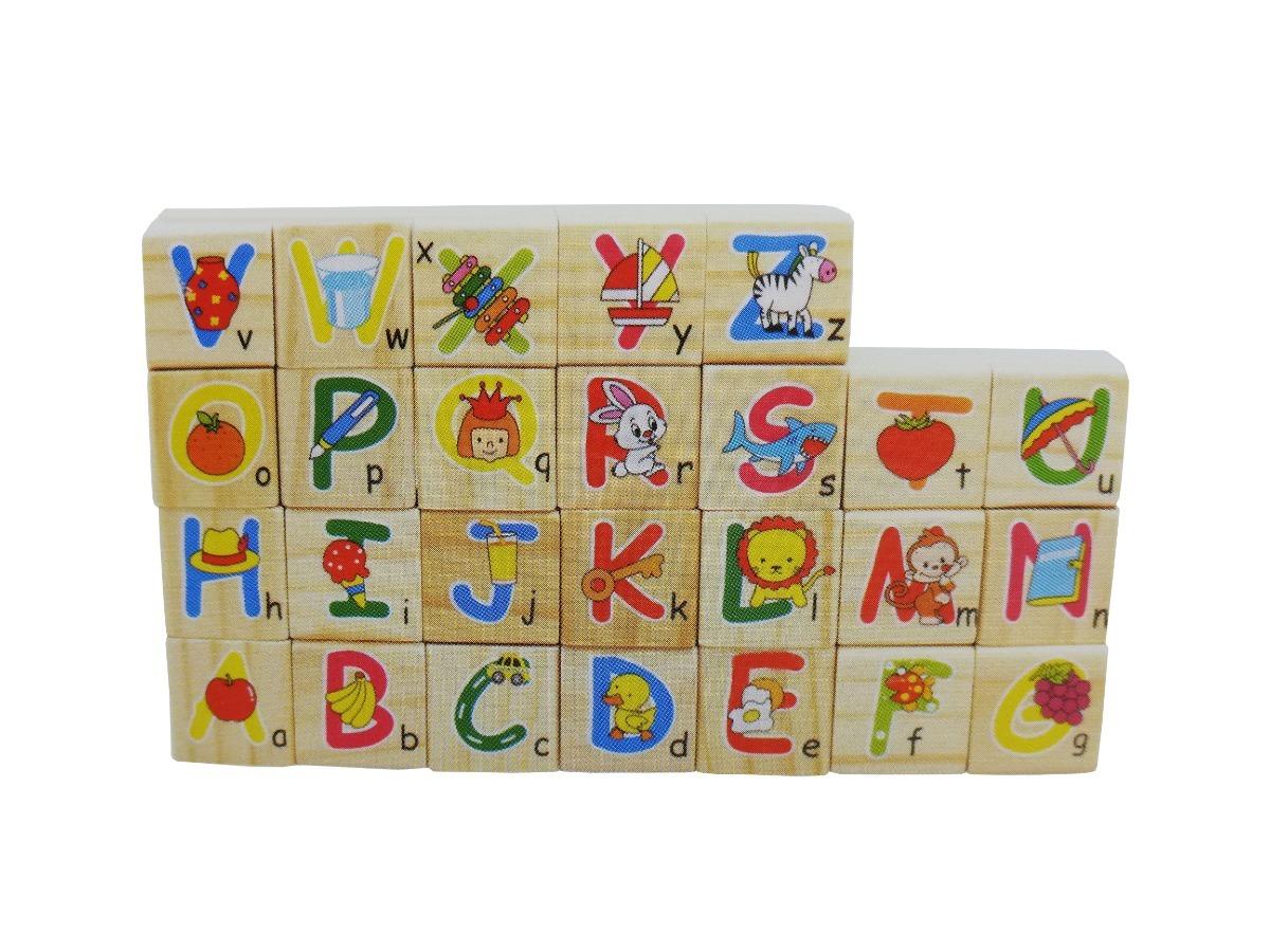 Letras De Bloques Números Construcción Madera Niños Juguete lT1JKFc3