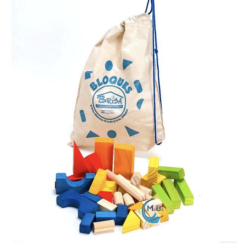 bloques de madera p/ armar + torre encastre apilable niños