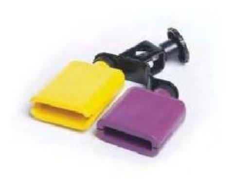 bloques de plastico violeta y amarillo 290005