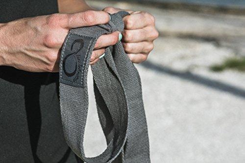 bloques de yoga premium y metal d ring strap yogi set (3pc)