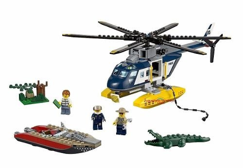 bloques helicopter pursuit coleccion city police lego 60067