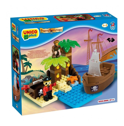 bloques infantiles unico plus pirate adventures 37 pzas