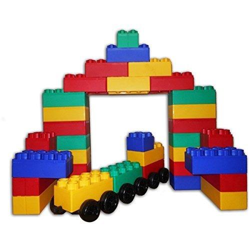bloques jumbo - juego de ciudad grande con ruedas 60 pcs