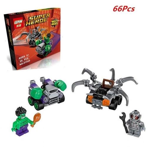 bloques l mighty batman flash spiderman hulk mini figuras