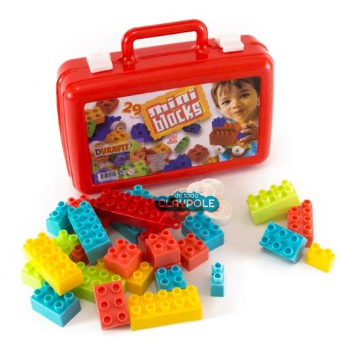 bloques ladrillos encastre duravit en valija 29 piezas