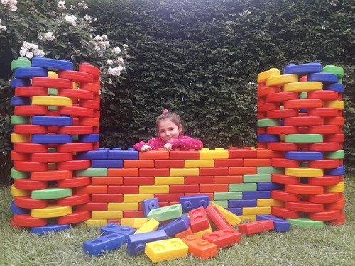 bloques ladrillos gigantes x 50 unidades oferta!! babymovil