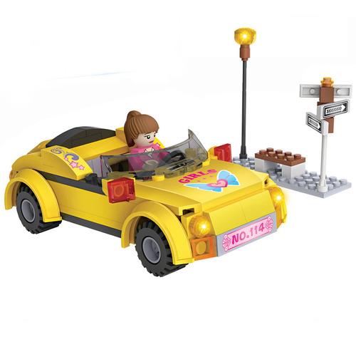 bloques para armar auto con nena cogo city 104 piezas