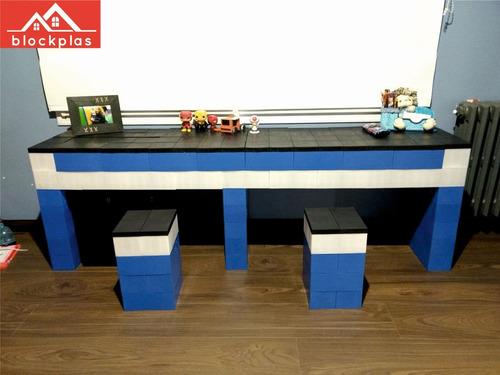 bloques plásticos/ladrillos gigantes/juego de encastre 2cav