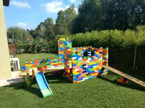 bloques plásticos/ladrillos gigantes/juego de encastre tapa