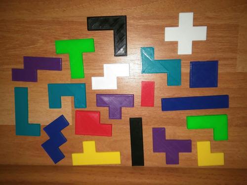 bloques tetris de plástico para construcción x 57 piezas.