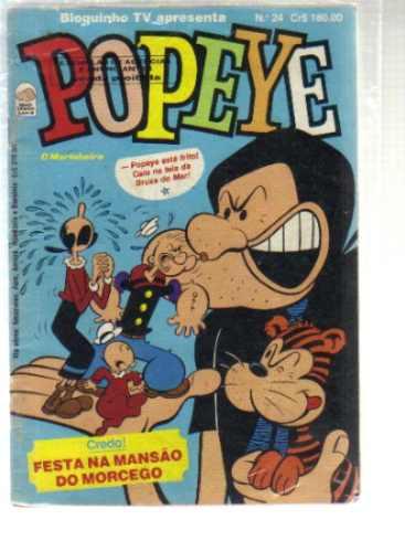bloquinho tv apresenta popeye numero 24 - editora bloch