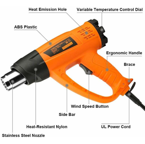blower de temperatura heat gun variable temperature, yome 18