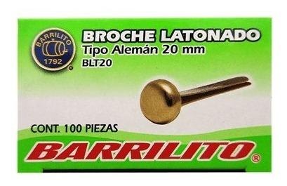 blt20 broche latonado tipo aleman 20mm 100pzas barrilito