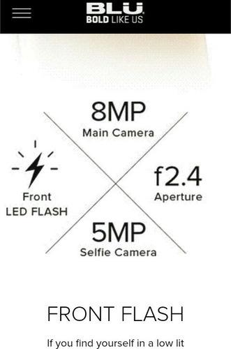 blu energy x plus2 modelo 2017 8gb 8mp flash led + garantia